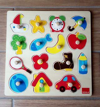 4 Puzzles de madera