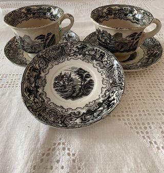 Dos tazas y 3 platos