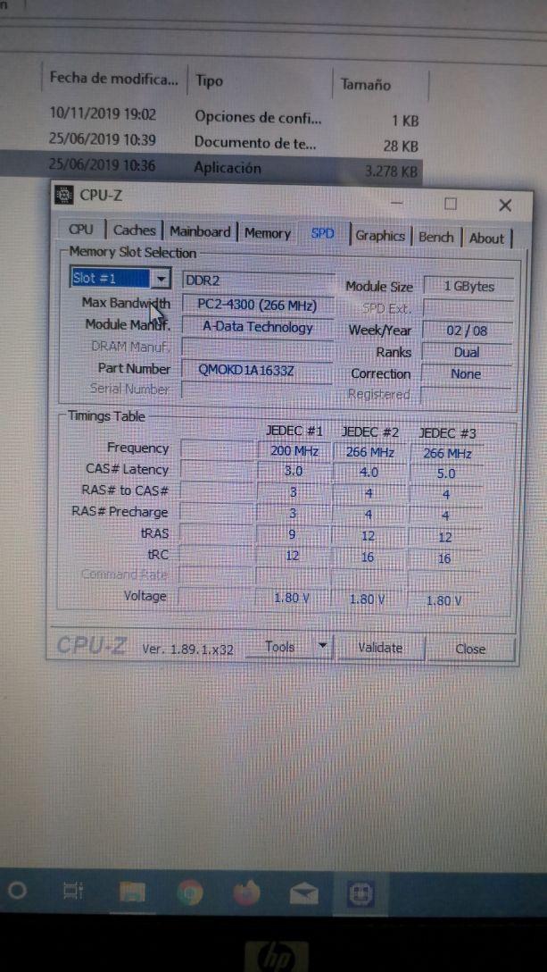 Dimm RAM portátil memoria 1Gb DDR2