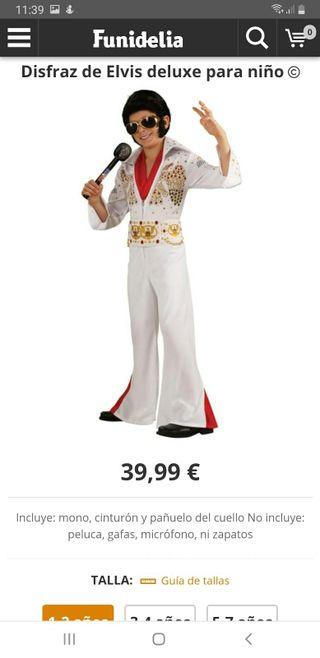 Disfraz Elvis Presley T4-6