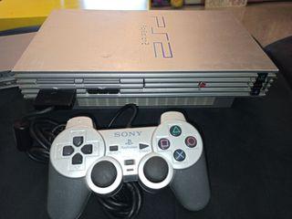 PS2 silver PlayStation 2