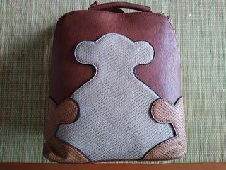 Bolso mochila estilo Tous polipiel, nuevo!