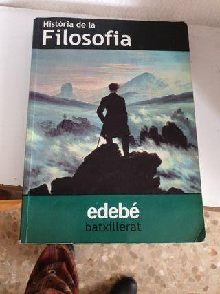 libro de texto, Bachillerato filosofía ,Edebé