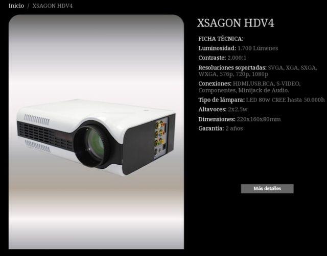 proyector HD y pantalla 100 pulgadas