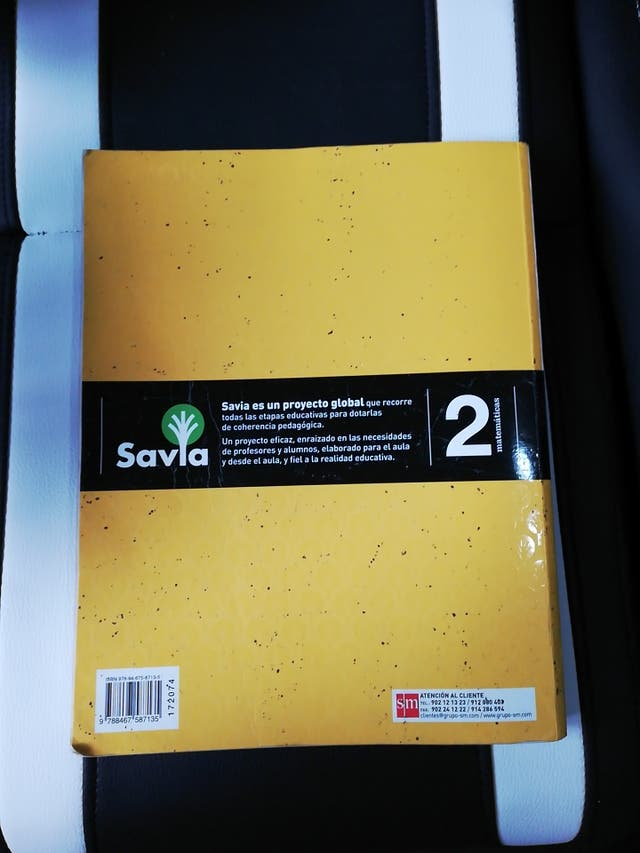 Libro de texto, 2 Bachillerato, Matemáticas.