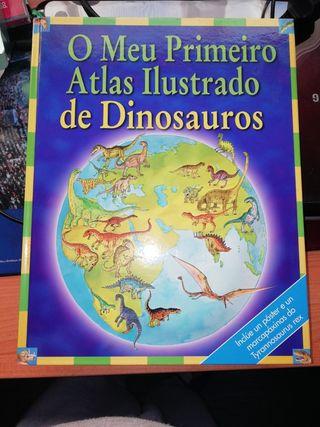libro infantil dinosaurios en gallego