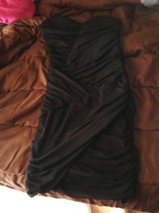 vestido de mujer pull&bear negro
