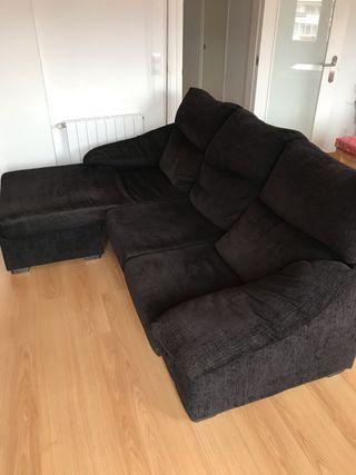 Sofá negro de 3 plazas