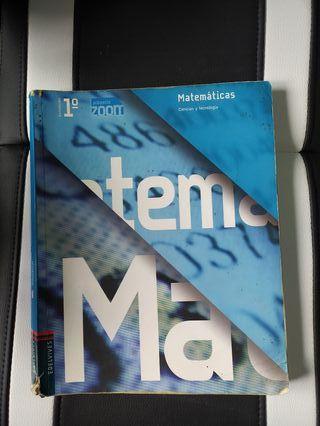 Libro de texto, 1 Bachillerato, Matemáticas.