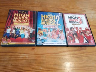 Lote DVD: High School Musical 1-2-3 (extendidas)