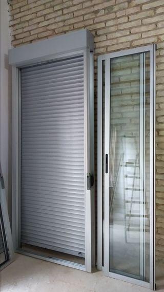 2 Balconeras aluminio 257cm alto