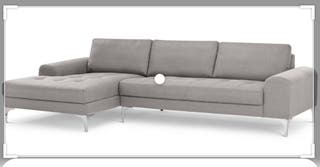 Vittorio sofa (made.com) corner, chaise lounge