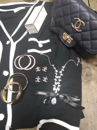 pendientes rodiado logotipo Chanel