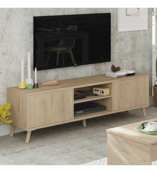 Mueble de televisión moderno campestre salón