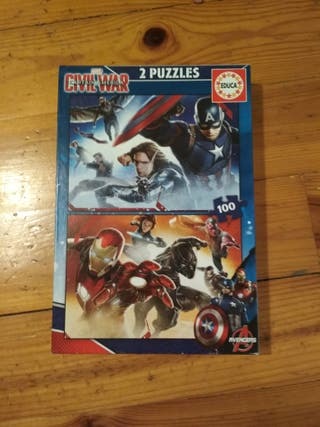 puzzle infantil Avengers Marvel Capitan America