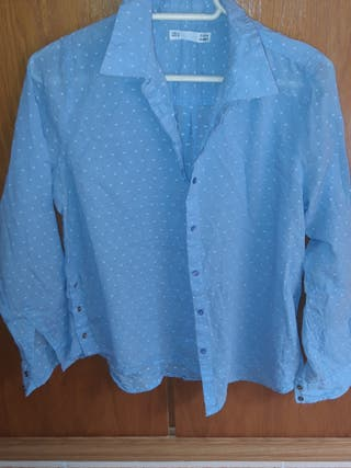 camisa transparencia topitos