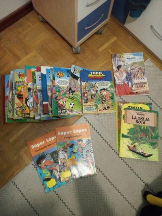 Colección comics Tintín, Mortadelo y Filemón...