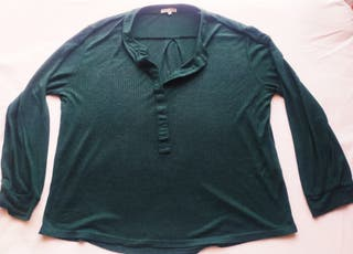 "T-shirt ""Natura"" vert bouteille taille S/M"