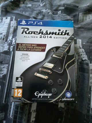 videojuego rocksmith 2014 de ps4 con cable