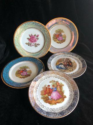 Platos postre porcelana española
