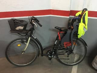 Bicicleta con silla