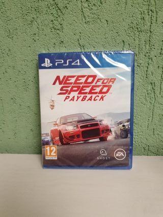 NEED FOR SPEED PAYBACK PS4 PRECINTADO