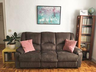 Sofá relax de tres plazas