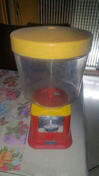 Máquina expendedora chicles,frutos secos
