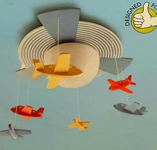 Lámpara de techo infantil aviones Philips