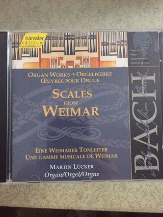 Órgano Bach sello Hanssler