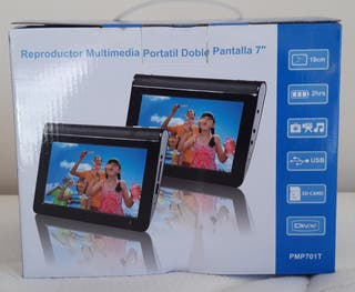 "Lectura multimedia portatil doble ecran 7"""