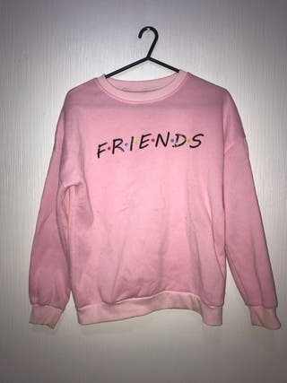 Baby pink friends crew neck