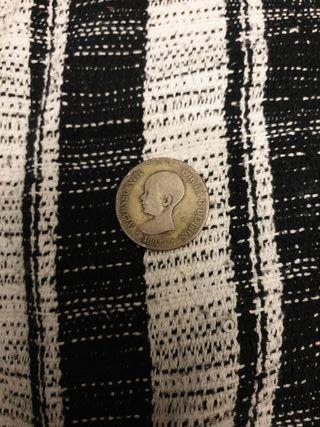 moneda 1891 de 5pesetas