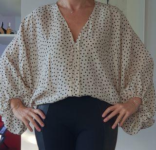 Camisa lunares oversize Uterque