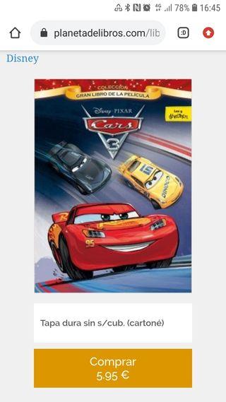 """Libro """"Cars 3. Gran libro de la película"""""""