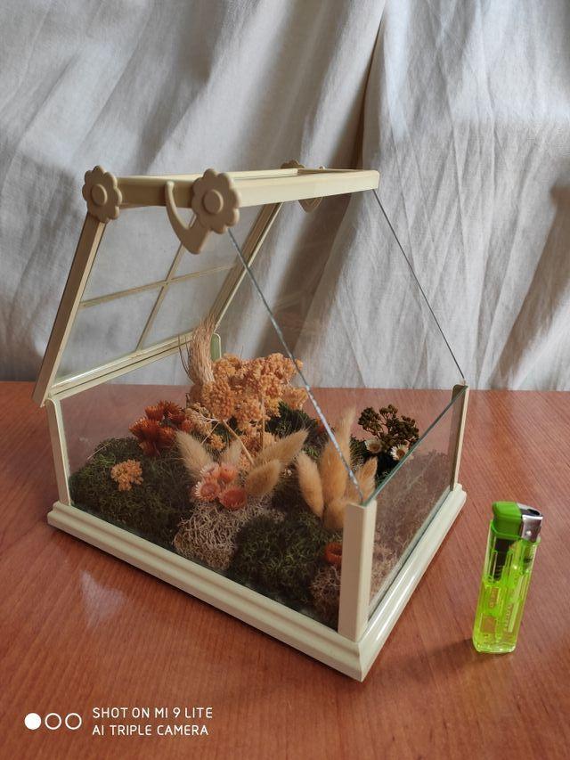 Casita de cristal - imitación jardín botánico