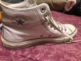 Zapatillas converse piel blancas