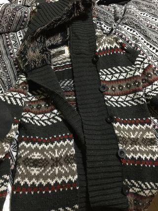Abrigo lana etnico mujer