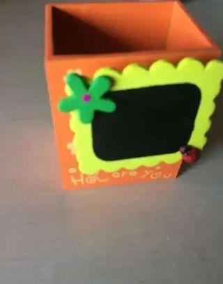 cubilete portalápices ikea infantil con pizarra