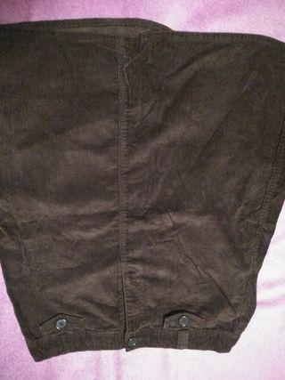 falda de pana marron