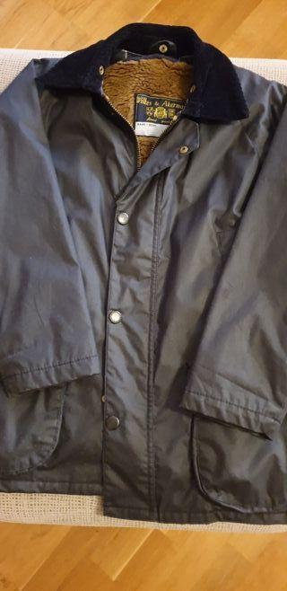 chaqueta Barbour niño talla 8, color azul.