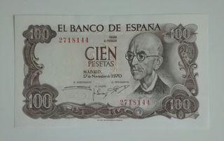 billete 100 pesetas 1970 (((SIN SERIE)))