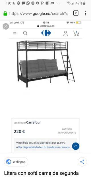 litera sofá cama sin futon