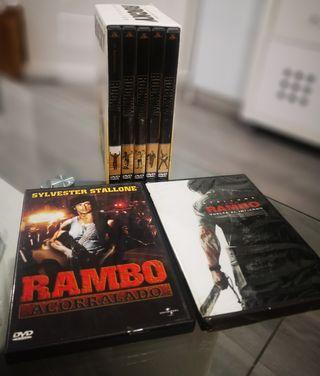 saga Rocky, acorralado y Jhon rambo