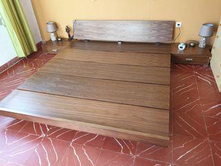 cama para futon y mesitas