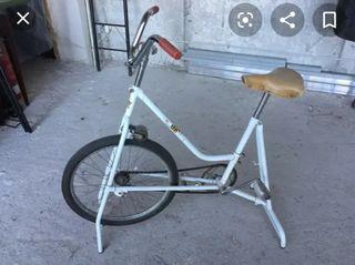 bicicleta estática antigua. BH