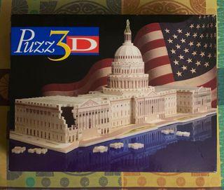 Puzzle 3D Puzz3D. El Capitolio. La Casa Blanca.