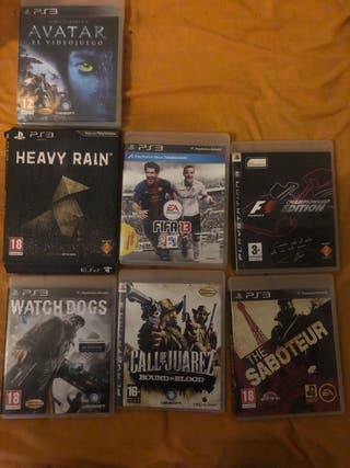 PS3 + 1 mando + 7 juegos