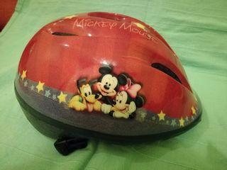 casco bicicleta mickey mouse
