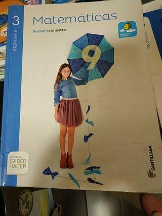 pack libros matemáticas 3° primaria Santillana